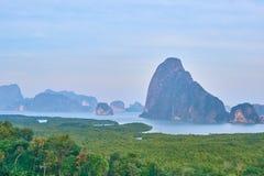 Point de vue chez Phang Nga Thaïlande image libre de droits