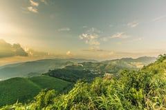 Point de vue de coucher du soleil chez Nern Chang Suek Viewpoint, Pilok, Kanchanab Photo stock