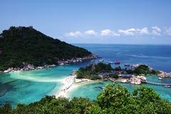 Point de vue d'île de yaun de Nang Images libres de droits