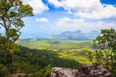 Point de vue d'itinéraire aménagé pour amateurs de la nature de côte de NAK d'â de Kaek de baquet Images libres de droits