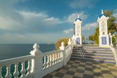 Point de vue d'océan de Benidorm Photos stock