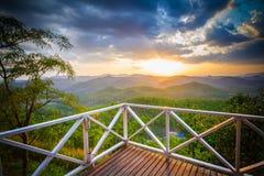 Point de vue de coucher du soleil Image libre de droits