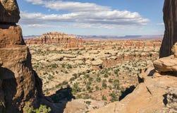 Point de vue de parc de Chesler, parc national UT de Canyonlands Photos stock