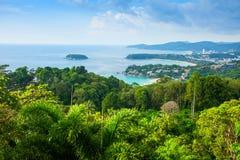Point de vue de plage de Phuket en Thaïlande photographie stock libre de droits