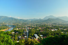 Point de vue de prabang de Luang Photos stock