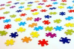 Point de vue de puzzle denteux image stock