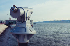 Point de vue de télescope image libre de droits
