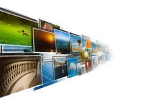 Point de vue des images coulant du profond Image stock