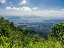 Point de vue à l'île de Langkawi. La Malaisie Images libres de droits
