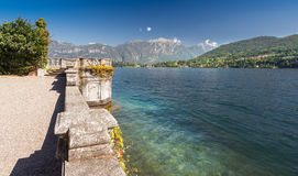Point de vue le long de lac Como, Italie, l'Europe Image stock