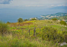 Point de vue panoramique, côte de Sorrento, Italie Images stock