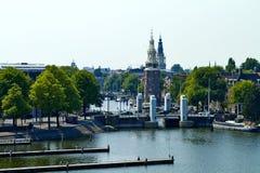 Point de vue sur Amsterdam images stock