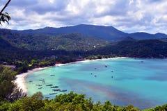 Point de vue sur l'île de Phangan, Thaïlande Photos stock