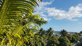 Point de vue sur la ville Polynésie française de Papeete Image stock