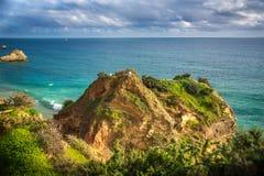 Point de vue sur le Praia DA Rocha de plage Photo libre de droits