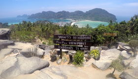 Point de vue Thaïlande de Koh Phi Phi Don Images libres de droits