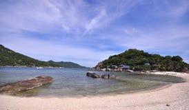Point de vue tropical d'île de Koh Nang Yuan Image stock