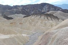 Point de Zabriskie, Death Valley, la Californie. Photo libre de droits