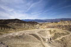 Point de Zabriskie, Death Valley, la Californie, Etats-Unis Images libres de droits