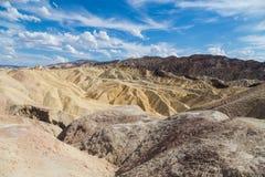 Point de Zabriskie en parc national de Death Valley, la Californie, Etats-Unis Photo libre de droits