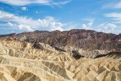 Point de Zabriskie en parc national de Death Valley, la Californie, Etats-Unis Photo stock
