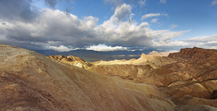 Point de Zabriskie, stationnement national de Death Valley Images libres de droits