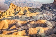 Point de Zabriskie, stationnement national de Death Valley Photographie stock libre de droits