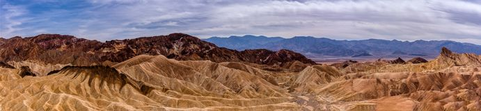 Point de Zabriskie, stationnement national de Death Valley photo stock