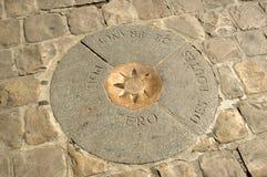 Point Des Routes de France Marker zéro Photos libres de droits