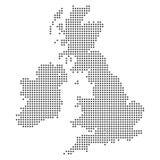 Point - Dotted United Kingdom - UK Map. Simple Design royalty free illustration