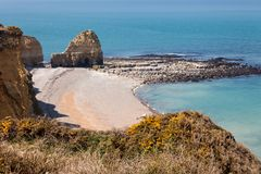 Point du hoc Normandy France Royalty Free Stock Image