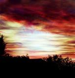 Point du jour ou coucher du soleil Images stock