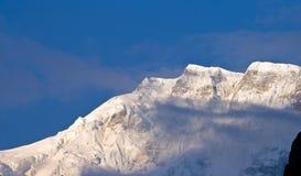 Point du jour tibétain de montagnes Photographie stock libre de droits