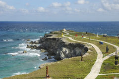 Point du sud, Isla Mujeres, Mexique Photos libres de droits