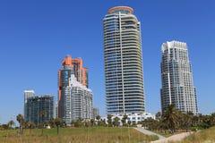 Point du sud, Miami la Floride photographie stock