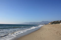 Point Dume Beach | California. Point Dume Beach, California, USA. View of Pacific Ocean with Malibu in the background Royalty Free Stock Images