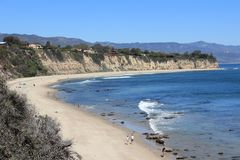 Point Dume, Malibu. California, United States - Pacific coast view in Malibu. Point Dume State Beach Stock Photography