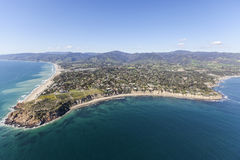 Point Dume Malibu Pacific Coast Aerial Royalty Free Stock Photos