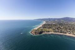 Point Dume Shoreline Aerial Malibu California. Aerial view of Point Dume beaches in Malibu, California Stock Photos