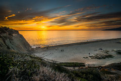 Point Dume State Beach Sunset Royalty Free Stock Photos