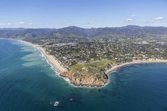 Point Dume State Park Malibu California. Aerial view of Point Dume State Park and nearby beaches in Malibu, California Royalty Free Stock Photos