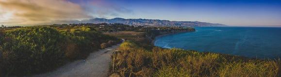 Point Dume Sunset Panorama Royalty Free Stock Image