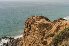 Point Dume vista in winter, Malibu, California. Beautiful and peaceful Point Dume coastal vista in winter, Malibu, Southern California Stock Images