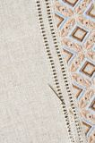 Point et jour plats de texture de broderie Photos stock