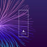 Point explode. Array with dynamic emitted particles. 3d technology style. Abstract background. Vector illustration vector illustration