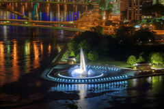Point Fountain, Pittsburgh Stock Image