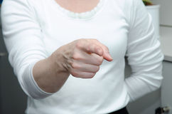 Point gesture Royalty Free Stock Photography