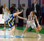 Point Guard Celine Dumerc. EuroLeague 2010. Royalty Free Stock Image