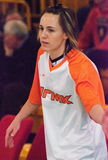 Point Guard Celine Dumerc. EuroLeague 2010. Stock Images