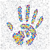 Point hand print Royalty Free Stock Photos
